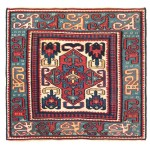 Shahsavan sumakh bag face, Caucasus, ca. 1850, 1ft. 8in. x 1ft. 7in, condition: very good, sides newly overcast; warp: wool; weft: wool, small areas of metal brocading. Lot 252, Austrian Auction Company, 19th November, estimate: €10.000 – 14.000