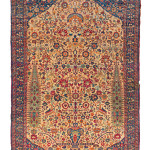 Qashqa'i Silk, Persia, possibly dated 1125ah / 1713 ad, 5ft. 9in. x 3ft. 10in. Lot 102, Azadi Collection, Austrian Auction Company, 19th November, estimate: € 40.000 – 60.000