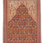 Senneh prayer kilim, Persia, mid 19th century, 5ft. 3in. x 3ft. 11in.. Lot 192, Austrian Auction Company, 19th November, estimate: € 25.000 – 35.000