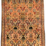 Silk Tabriz carpet, Northwest Persia, 19th century.
