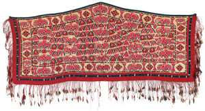 Embroidered Tekke Asmalyk, Central Asia, West Turkestan, first half 19th century. Rippon Boswell, Wiesbaden, 3 December, lot 79, 60 x 138 cm, estimate €15,000.00