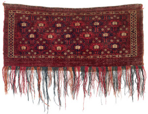 Pseudo-Chodor torba, Central Asia, West Turkestan, first half 19th century. Rippon Boswell, Wiesbaden, 3 December, lot 1, The Wollheim Collection, 44 x 103 cm, estimate €1,000.00