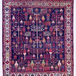 Lot 0043 Early 20th century, 198 x 170 cm, Western Central Persia. Sold For €6,000 hammer. Estimate: €8,000-€16,000