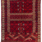 Lot 0122 Mid 19th century, 160 x 113 cm, Central Asia, West Turkestan. Sold For €7,500 hammer. Estimate: €8,500-€17,000