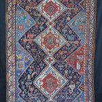 Qashqa'i rug with stylised creatures, 19th century. Brian MacDonald