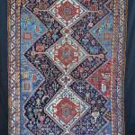 Qashqa'i rug with stylised creatures, 19th century. Brian MacDonald