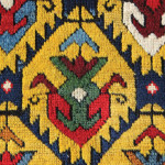South Caucasian long rug (detail), c. 1850. James Cohen