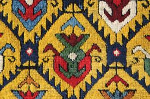 South Caucasian long rug (detail), c. 1850. James Cohen