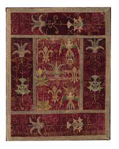 Opus Anglicanum panel, 15th century. Embroidery on velvet. Marilyn Garrow