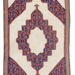 Senneh kilim, c. 1900, Persia. Collection of Dr. and Mrs. William T. Price. On show in Artful Weavings, Peter Pap at San Francisco Tribal Art Show, Fort Mason, 9-12/02/17, then at Peter Pap Gallery 15/02-10/03/17.