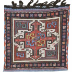 Shahsevan sumak bag, 19th C (1st half),  Moghan-Savlan area of Azerbaijan, Caucasus.  Collection of Mr. and Mrs. Wendell Swan. On show in Artful Weavings, Peter Pap at San Francisco Tribal Art Show, Fort Mason, 9-12/02/17, then at Peter Pap Gallery 15/02-10/03/17.