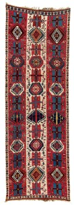 Kurdish Kilim.  Lot 257 Origin East Anatolia, Malatya region. 406 x 129 cm. First half 19th century.  Estimate €3,000 - 4,000.