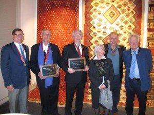 McMullan awardees Ignazio Vok and Detled Maltzahn with previous awardees Bruce Baganz, Christian and Dietlinde Erber and Daniel Shaffer