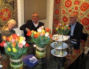 Monique di Prima, Ziya Bozoglu and Moshe Tabibnia