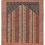 Sehna Kilim. Lot 206 . North West Persia, Kurdistan. 155 x 131 cm. First half 19th century. Estimate €6,000.00 - 8,000