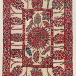 Samarkand Suzani . Lot 248. Central Asia, South West Uzbekistan. 235 x 172 cm. Ca. 1750 – 1800. Estimate €30,000 - 35,000