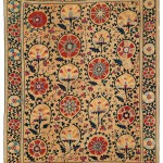 Shahrisyabz Suzani.  Lot 239. Central Asia, South West Uzbekistan. 270 x 212 cm. Pre 1750. Estimate €30,000 - 35,000.