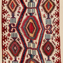 Konya Kilim.  Lot 267. Central Anatolia . 399 x 146 cm. First half 19th century. Estimate €12,000 - 14,000
