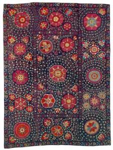 Karshi Suzani. Lot 260. Central Asia, South West Uzbekistan. 263 x 195 cm. Ca. 1750 – 1800. Estimate €30,000 - 35,000