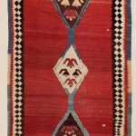 Bijar Kilim. Lot 255. North West Persia, Kurdistan.  425 x 195 cm.  Ca. 1800. Estimate €3,500.00 - 4,200.