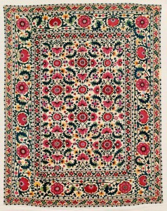 Shahrisyabz (?) Suzani. Lot 230. Central Asia, South West Uzbekistan. 269 x 214 cm. Ca. 1825 – 1850. Estimate €40,000 - 45,000