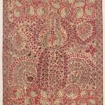 Uzbek Suzani. Lot 205. Central Asia, East Uzbekistan. 222 x 178 cm. Ca. 1800. Estimate €20,000 - 24,000.