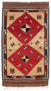 Qashqa'i Kilim . Lot 220. South West Persia, Fars province. 253 x 142 cm. Second half 19th century . Estimate €4,000.00 - 5,000.