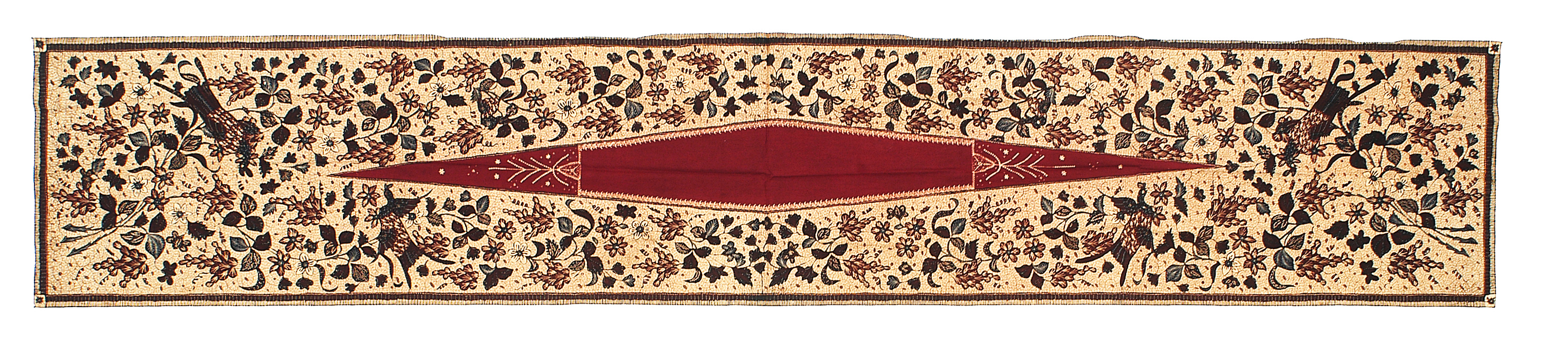 "Batik kemben, central Java, Indonesia, 20th century. 0.51 x 2.81 m (1' 8"" x 9' 3""). Textile Museum, Jakarta, Gift of Rudolf Smend"