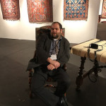 Ben Benayan who helped Peter Pap catalogue and mount his exhibition Artful Weavings at The Tribal & Textile Art Show