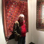 One half of the new owners of the Tribal & Textile Art Show, John Morris of Objects of Art Shows.