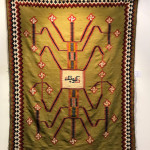 Dated and inscribed Qashqa'i kilim, southwest Persia, 19th century. Jack Corwin collection offered by Peter Pap as part of the exhibition, Artful Weavings