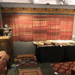 An antique hanging from Bhutan made up from 5 panels of Indian-Assamese Vaishnavaite silks, so-called Vrindavani Vastra, 17th-18th century 369 x 163 cm. Plum Blossoms, Hong Kong,