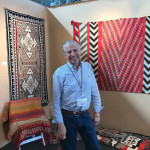 George Postrozny of Tahoe Rugs exhibited Native American weavings