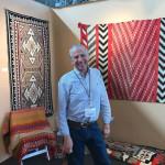 George Postrozny of Tahoe Rugs exhibited Native American weavings