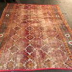 Deccani (?) carpet fragment, 18th century, India. Plum Blossoms, Hong Kong