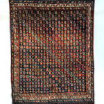 Luri gabbeh, west Persia, late 19th century. Jack Corwin collection offered by Peter Pap as part of the exhibition, Artful Weavings