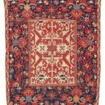 CHRISTIE'S LONDON, 27 APRIL 2017. LOT 186. PROPERTY FROM A PRIVATE ENGLISH COLLECTION. 'LOTTO' RUG, PROBABLY USHAK, WEST ANATOLIA, LATE 17TH CENTURY. 5FT.2IN. X 4FT. (156CM. X 122CM.) INCLUDING KILIMS. ESTIMATE £15,000 – 25,000