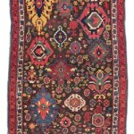 CHRISTIE'S LONDON, 27 APRIL 2017.LOT 191. PROPERTY FROM THE DHARMA COLLECTION. KUBA LONG RUG, EAST CAUCASUS, MID 19TH CENTURY. 8FT.4IN. X 3FT.1IN. (254CM. X 93CM.). ESTIMATE £5,000 – 7,000