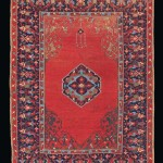 CHRISTIE'S LONDON, 27 APRIL 2017. LOT 203. PROPERTY OF AN ITALIAN COLLECTOR. SMALL MEDALLION USHAK RUG, WEST ANATOLIA, LATE 16TH CENTURY. 5FT.1IN. X 3FT.7IN. (154CM. X 109CM.). ESTIMATE £70,000 – 100,000