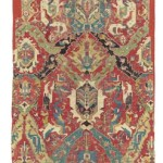 CHRISTIE'S LONDON, 27 APRIL 2017. LOT 217. PROPERTY FROM THE DHARMA COLLECTION. THE CHARLES DEERING CAUCASIAN DRAGON CARPET FRAGMENT, PROBABLY KARABAGH, SOUTH CAUCASUS, LATE 17TH/EARLY 18TH CENTURY. 15FT.1IN. X 5FT.4IN. (459CM. X 161CM.). ESTIMATE £28,000 – 32,000
