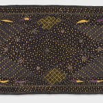Phulkari, Early 20th century. Artist/maker unknown, Punjabi. Handspun cotton plain weave (khaddar) with silk and cotton embroidery in darning, running, herringbone, and double running stitches, 8 feet 6 1/2 inches × 47 1/2 inches (260.4 × 120.7 cm). The Jill and Sheldon Bonovitz Phulkari Collection.