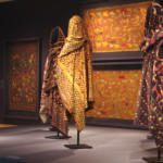 A gallery view showing how phulkari were worn