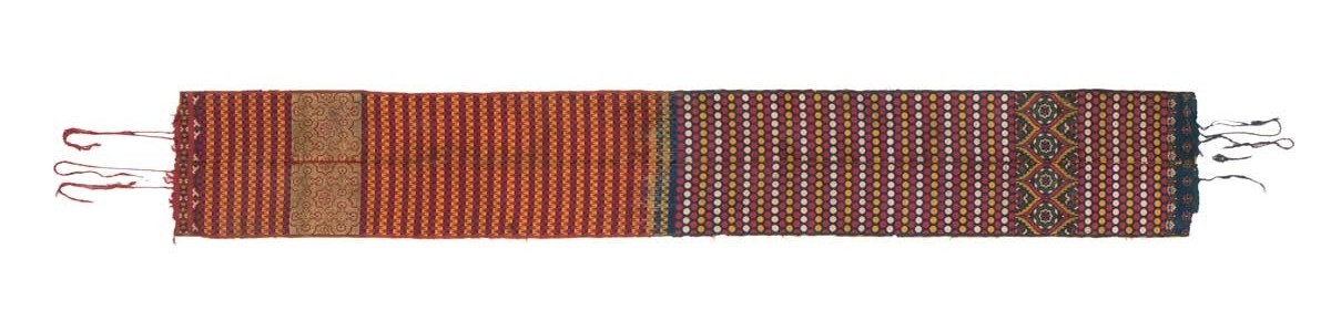 Fez belt, Morocco, 17th century. Silk and metal thread, lampas weave. Gebhart Blazek, Graz, Austria