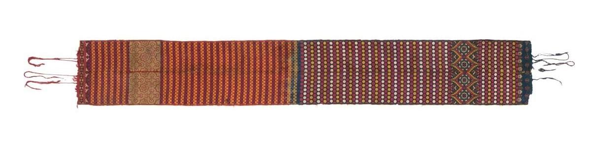 Fez belt, Morocco, 17th century. Silk and metal thread, lampas weave. Gebhart Blazek, Graz, Austria