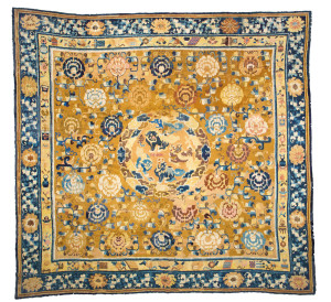 Lot 311, China carpet, circa 1830/1850; overall repiling. Wannenes, 25 May, Opencare, Milan, Estimate€ 1,800 - 2,800