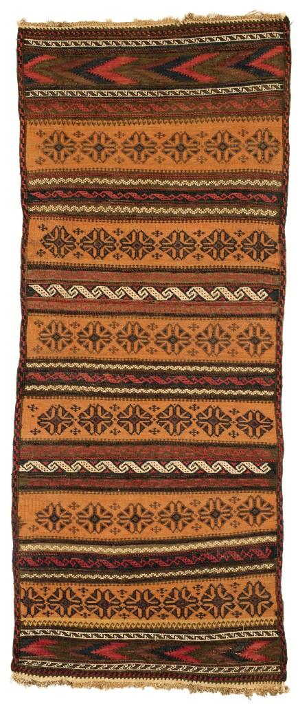 Lot: 4 Belutsch Flachgewebe Origin: Nordostpersien, Khorassan Dimensions: 145 x 58 cm Age: Ende 19. Jh. Estimate: 100.00 €