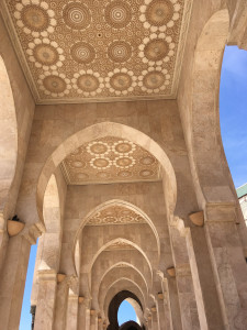 Commissioned by King Hassan II and completed in 1993, Hassan II Mosque in Casablanca is made mostly from Moroccan materials.