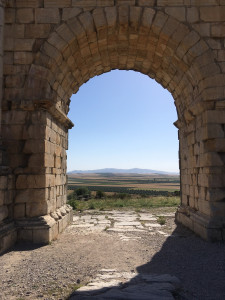 A Moroccan landscape reminiscent of Tuscany at Volubilis