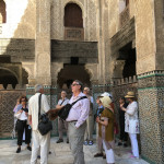 Thomas Murray and other HALI Tour guests at the Madrasa Bou Inania, Fez