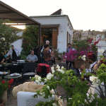 An evening of tapas, Andalusian music from the Mohammed Otmani ensemble plus a spot of rug viewing on the roof terrace at sunset, Palais Amani, Fez